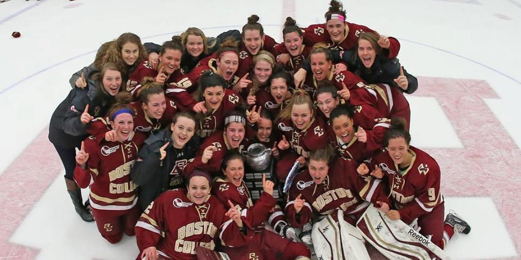 BC Women's Hockey Beanpot champs