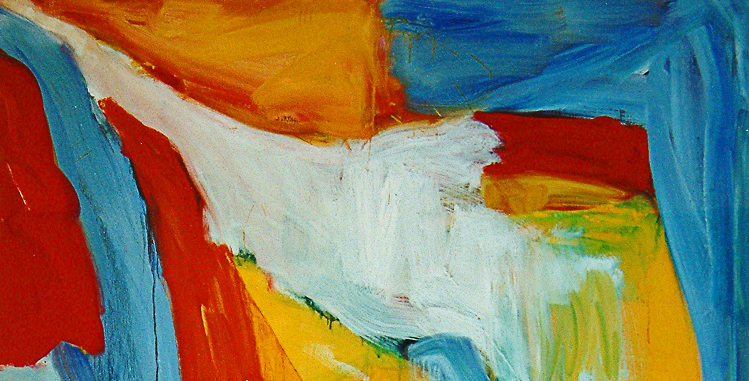 Section of large abstract oil painting; public domain