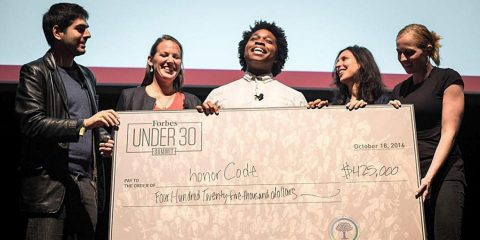Forbes' Global Challenge social winner honorCode