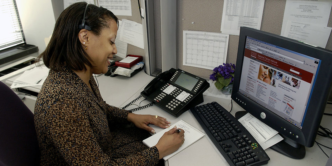 A woman executive at her desk