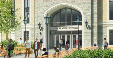 rendering: Connell Recreation Center entrance