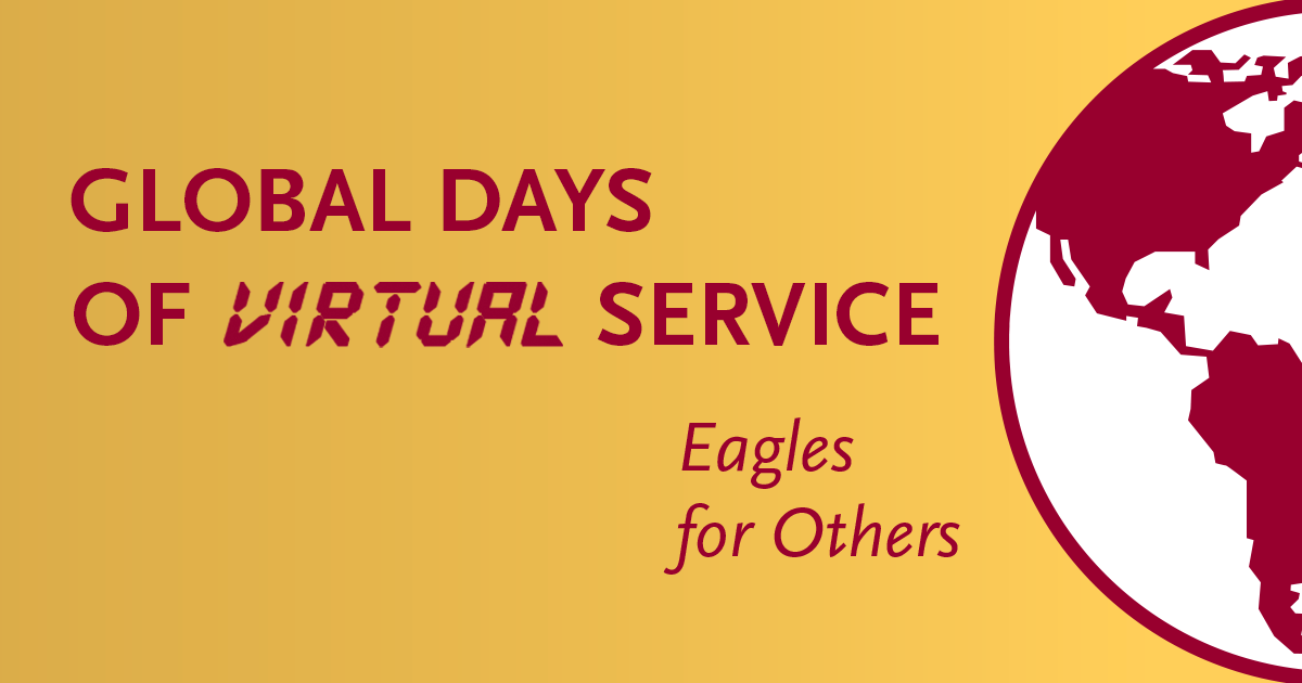Socal sharing image logo for Global Days of Virtual Service.