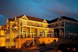 Photo of Union Bluff hotel at sunset