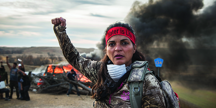 Protestor at the DAPL
