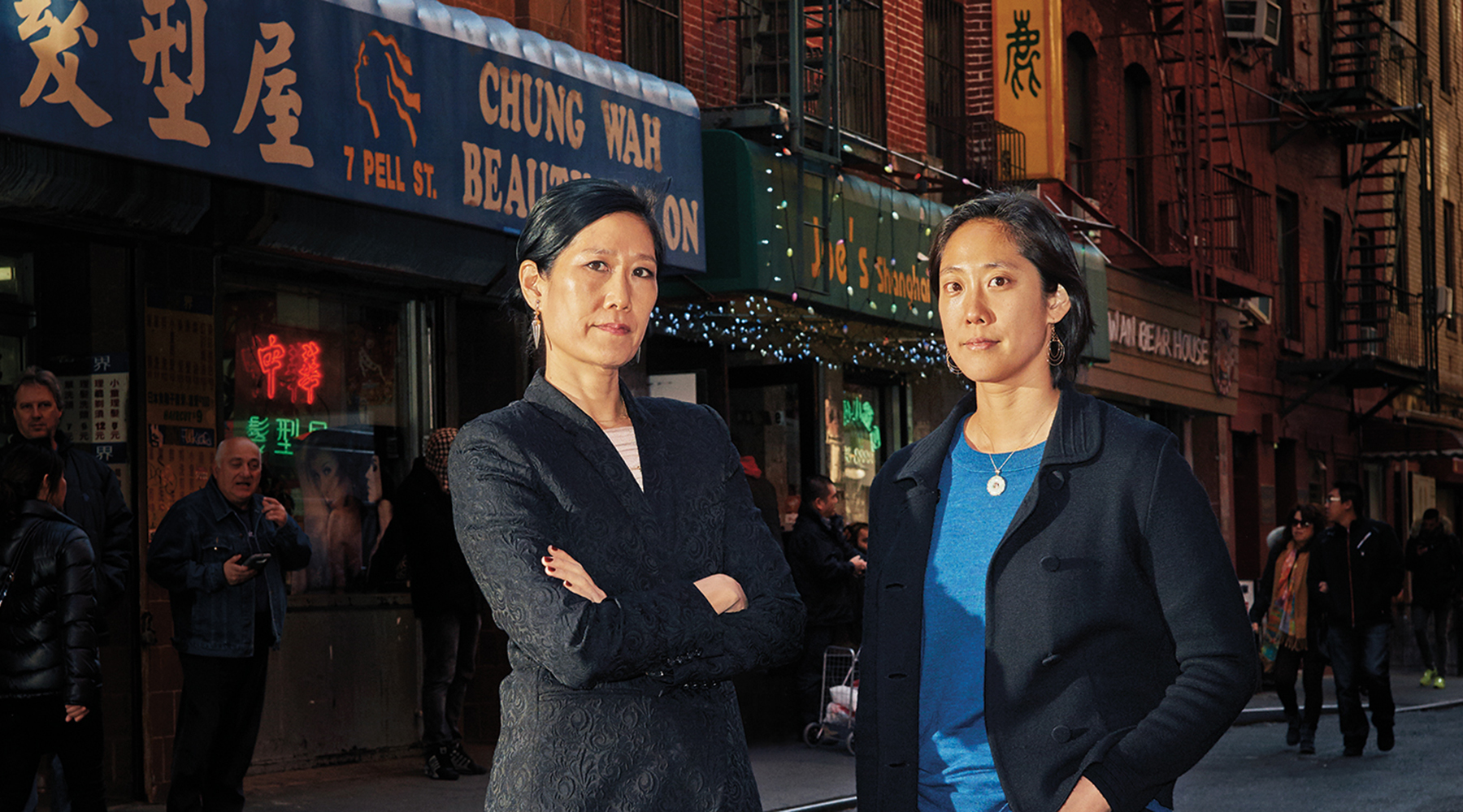 The Sung sisters in Chinatown