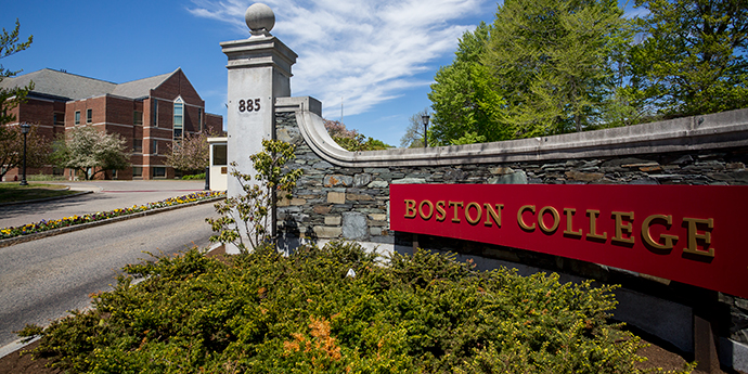 Boston College Newton Campus front gate