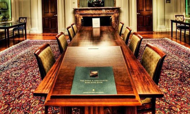 daniel r coquillette rare book room boston college law school