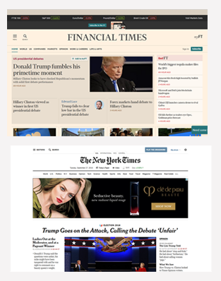 New York Times online screenshot