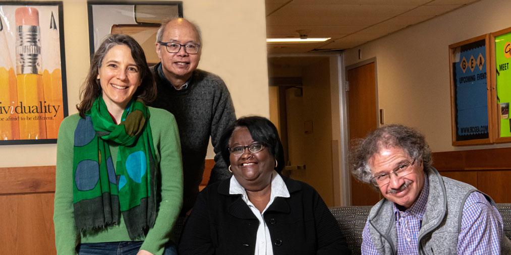 BC faculty members Juliana Belding, CK Cheung, Lillie Albert, and Solomon Friedberg