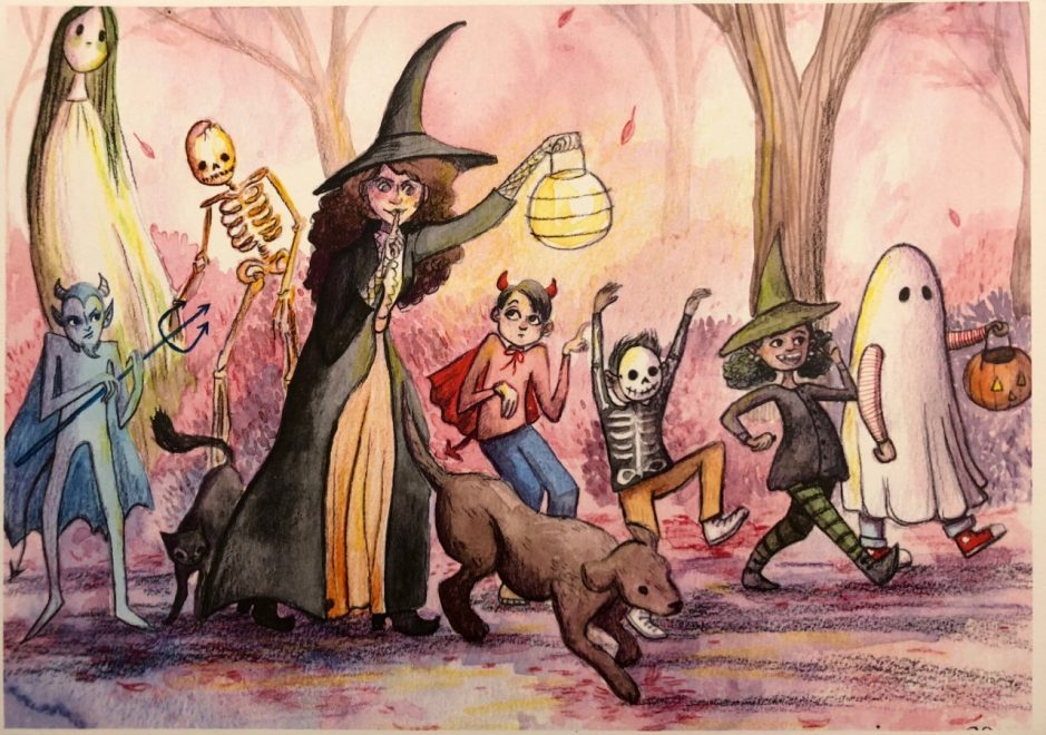 """Halloween Parade"" by Sara DeLorme, O'Neil Library"