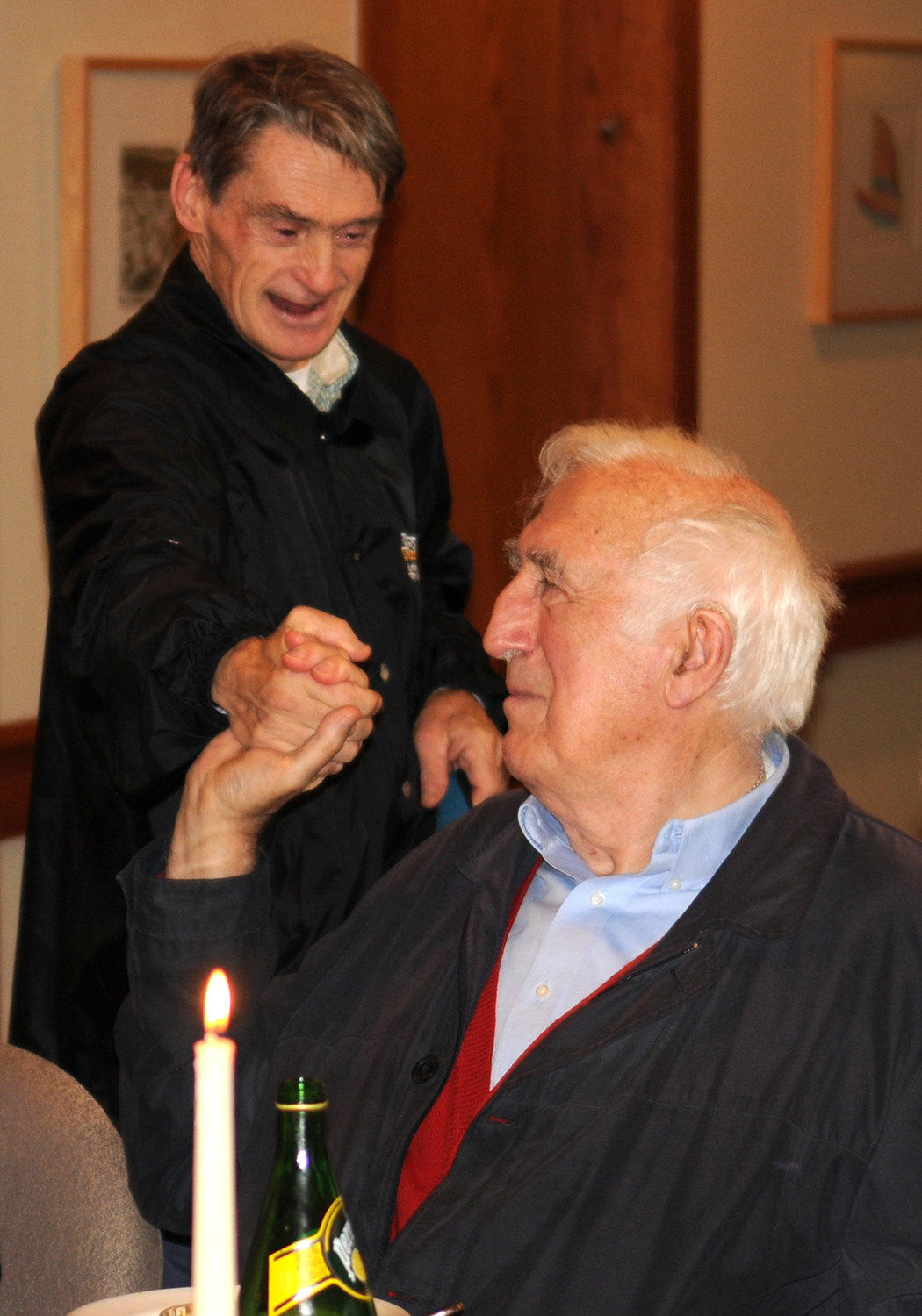 Jean Vanier with another member of the L'Arche community