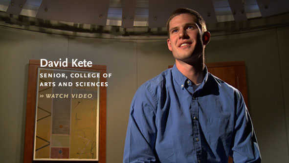 David Kete, Senior, College of Arts and Sciences