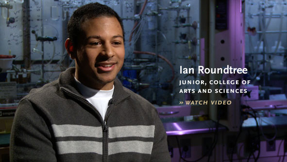 Ian Roundtree, Junior, College of Arts and Sciences.
