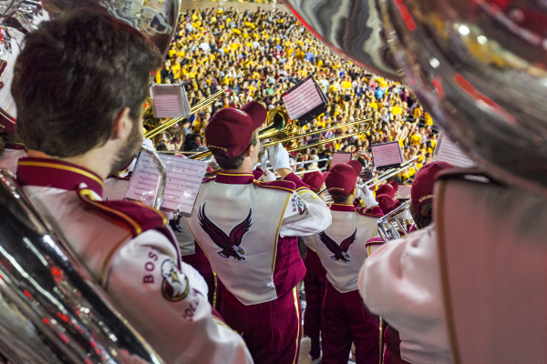 The Boston College Marching Band