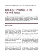 Religious Practice in the US