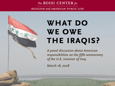 Iraq Panel backdrop