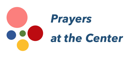 Five circles with text that reads Prayers at the Center