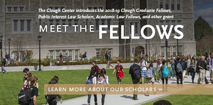 Meet the 2018-19 Clough Center Fellows