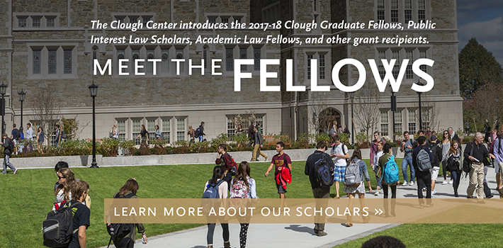 Meet the 2017-18 Clough Center Fellows