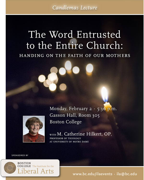 The Word Entrusted to the Entire Church: Handing on the Faith of our Mothers | February 2 at 5:30 pm | Gasson Hall, Room 305, Boston College