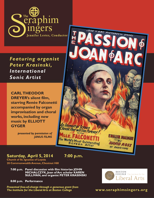 The Passion of Joan of Arc | April 5 at 7:00 pm | St. Ignatius of Loyola Church, 28 Comm Ave, Chestnut Hill