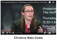 Christina Matz-Costa takes part in the Aging Workforce discussion panel