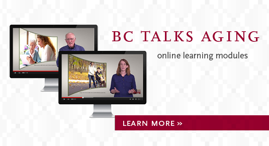 BC Talks Aging: Online Learning Modules. Click photo for details