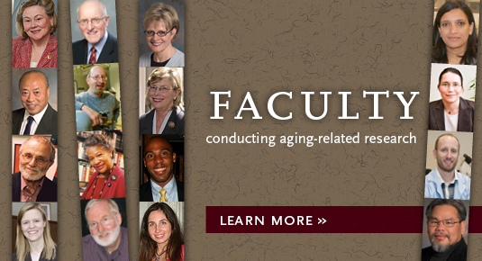 Faculty with an interest in aging-related issues. Click photo for details.