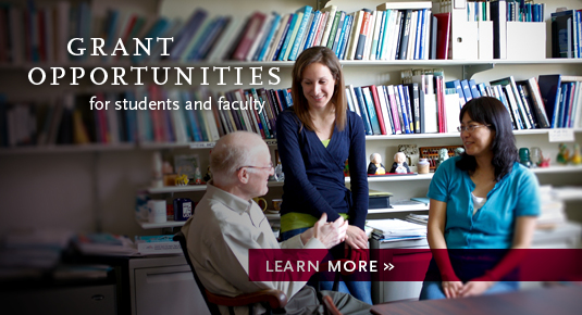 Grant opportunities for faculty and students. Click photo for details