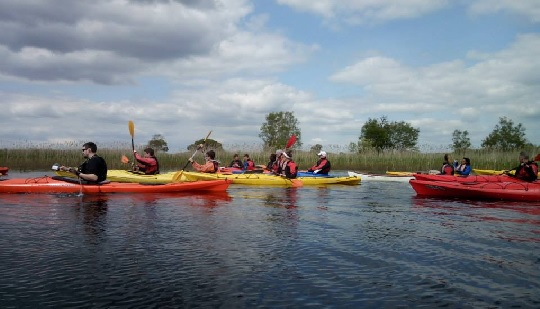 Kayaking on Lough Corrib in Galway