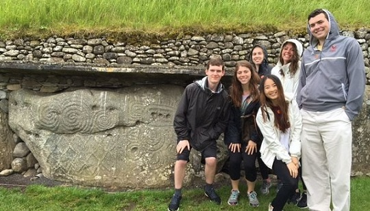 Boston College students visit Newgrange