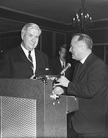 O'Neill receiving William V. McKenna Medal