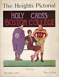 1928 Boston College - Holy Cross game program