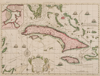 New chart of the seas surrounding the island of Cuba