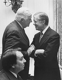 O'Neill with President Jimmy Carter