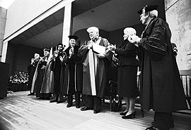 O'Neill Library dedication, October 14, 1984