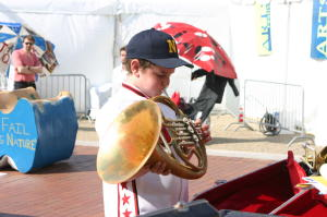 Instrument Petting Zoo at the Arts Festival