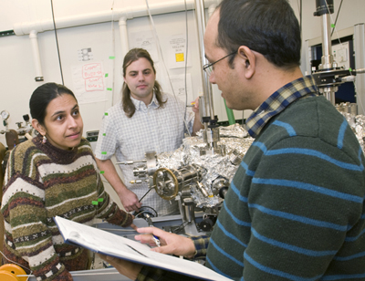 Physicist Vidya Madhavan and lab group