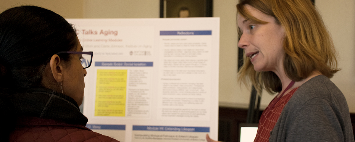 Carrie Johnson Presents a Poster at Excellence in Teaching Day