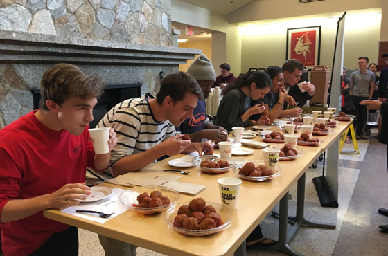 Students Participate in Meatball Eating Contest