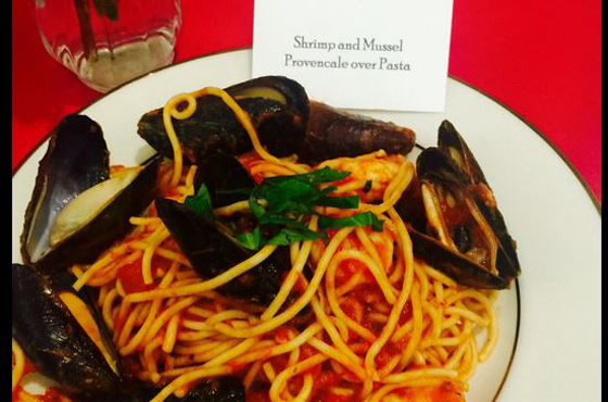 mussels served at special dinner