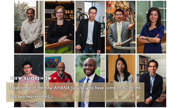 Meet some of the new AHANA faculty who have come to BC in the last two years—Part 1