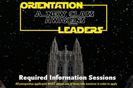 """A new class awakens, orientation leaders"""