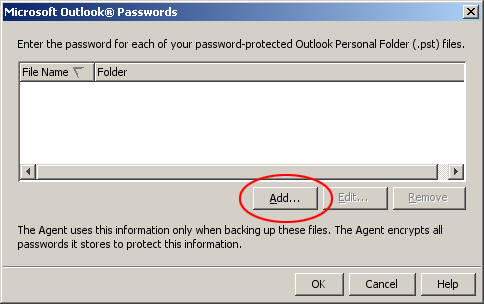 Add new Outlook password