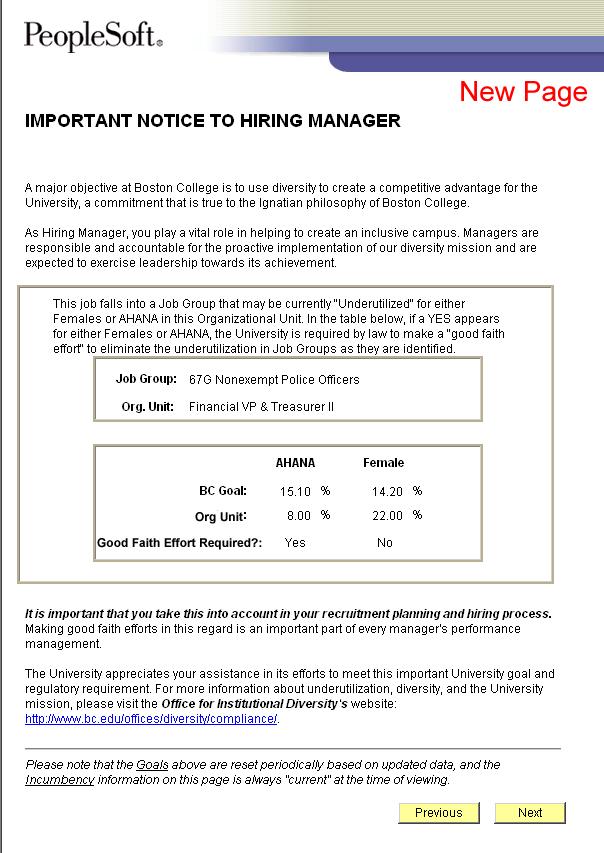 eRecruit Diversity Utilization Project - Boston College