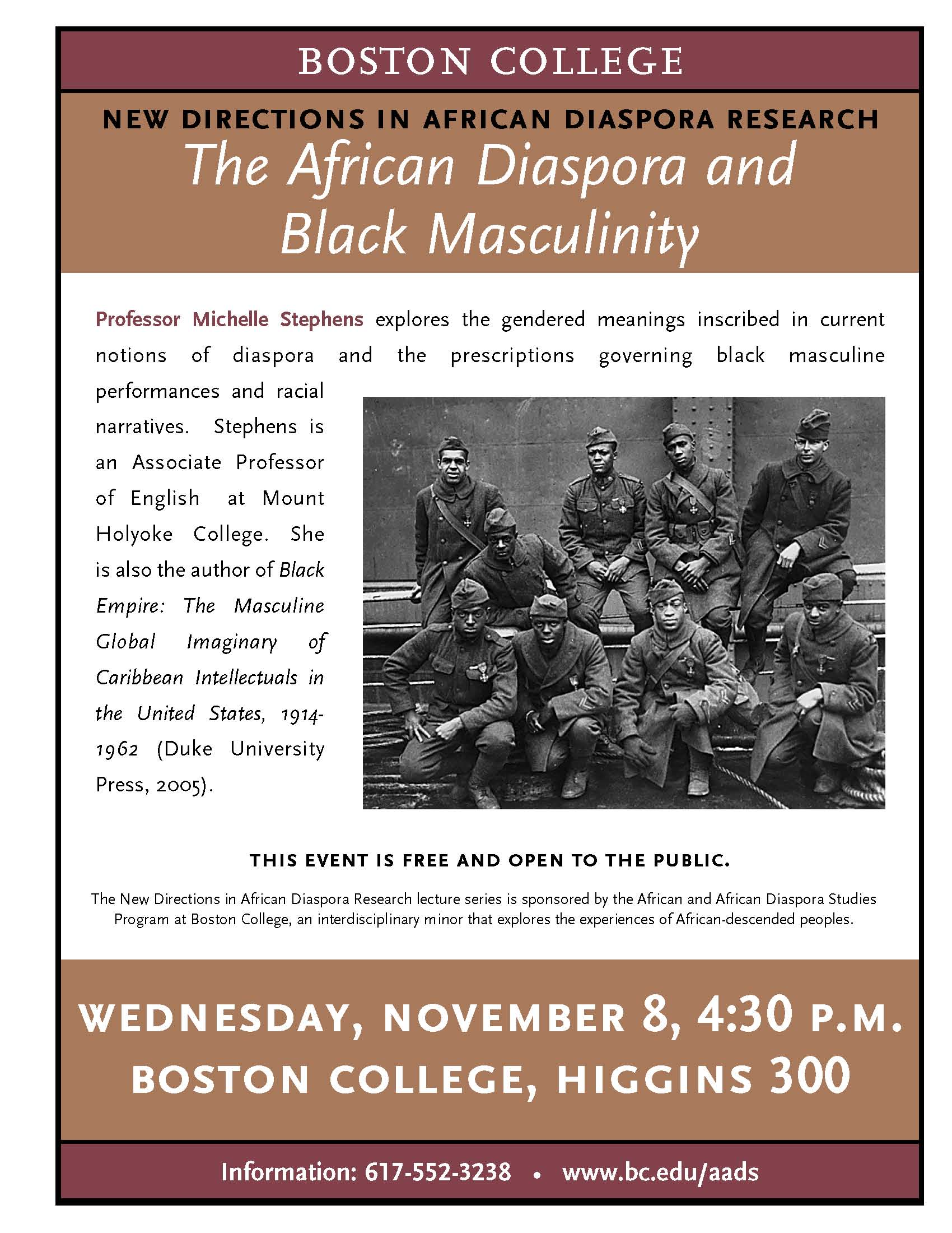 Promotional Poster: The African Diaspora and Black Masculinity
