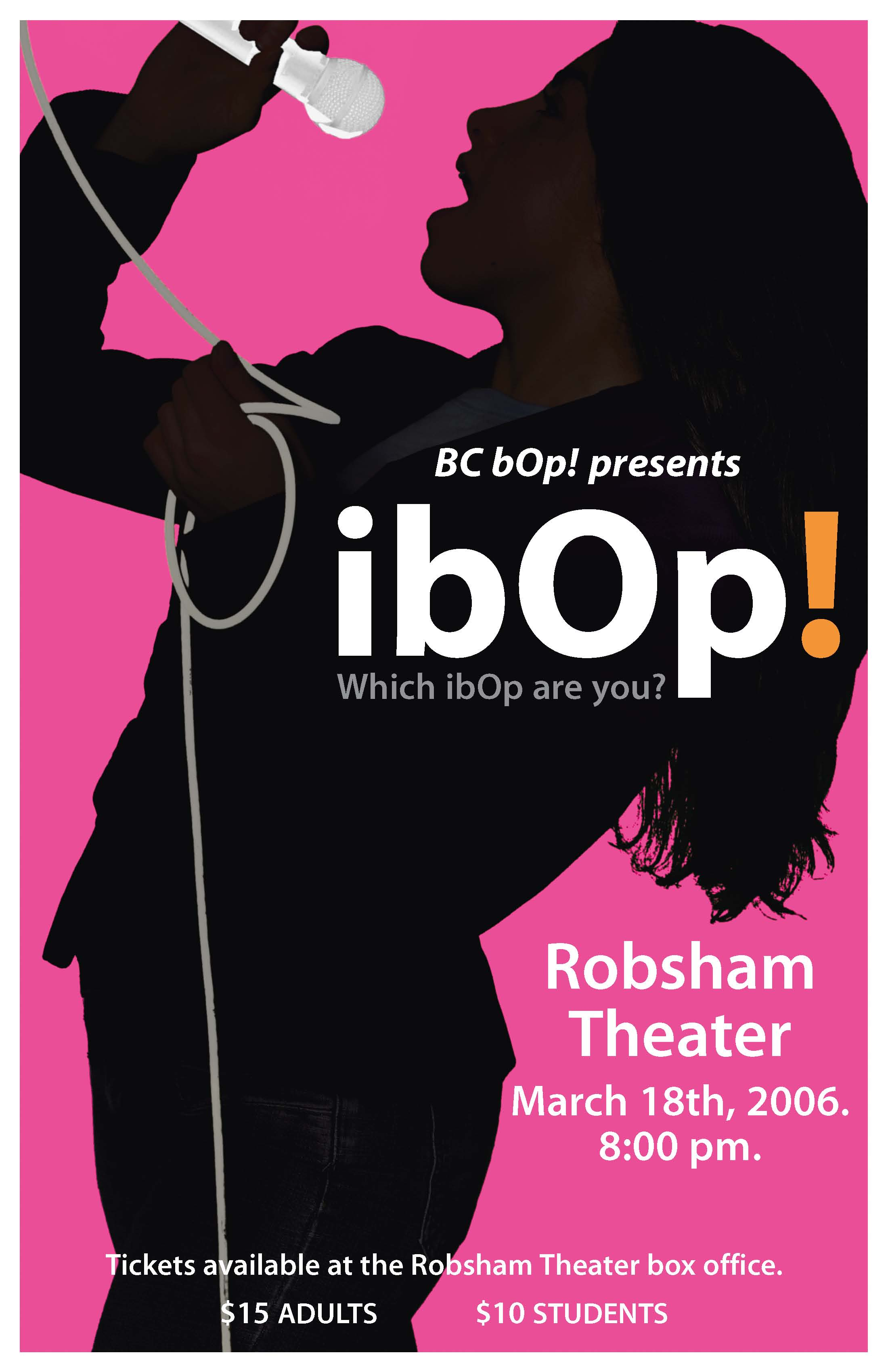 Promotional Poster: BC bOp presents: ibOp!
