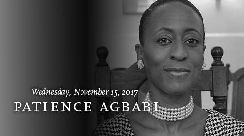 Patience Agbabi on November 15