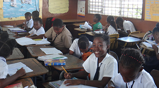 Jamaican students in classroom