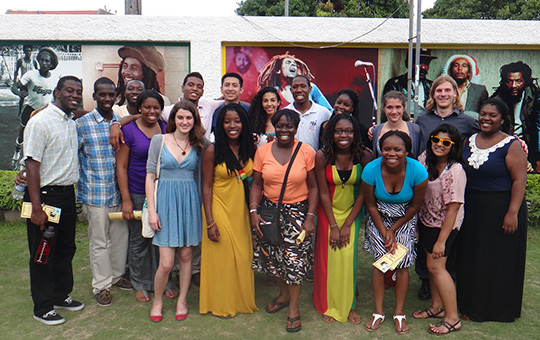 Group of students in Jamaica